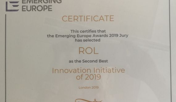 "ROL – 2nd in ""Emerging Europe Awards"", 2019"